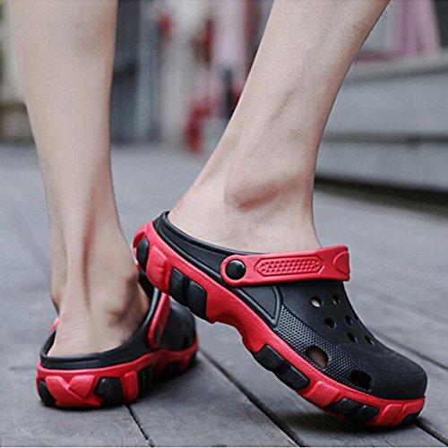 Black Estive Uomo Scarpe Pantofole da Uomo Spiaggia ZHONGST da da Casual 5Atvqxww