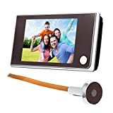 Adventures 3.5 Inches LCD Color Screen Digital Doorbell Camera Peephole Viewer-Night Vision Wide Angle Real-Time Monitoring