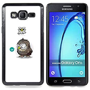 - Tiny Owl/ Hard Snap On Cell Phone Case Cover - Cao - For Samsung Galaxy On5 SM-G550FY G550