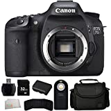 Canon EOS 7D 18 MP CMOS Digital SLR Camera (Body Only) + 32GB Bundle + 7PC Accessory Kit. Includes 32GB Memory Card + High Speed Memory Card Reader + Extended Life Replacement Battery (LP-E6) + Memory Card Wallet + Wireless Remote + Carrying Case + Microfiber Cleaning Cloth