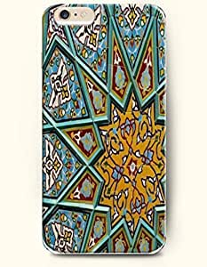 SevenArc Apple iPhone 6 Plus 5.5' 5.5 Inches Case Moroccan Pattern ( Green Hexagon )
