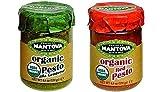 Mantova Organic Pesto MIX PACK, ( Genovese & Red ) , 0.28 Pound of Each