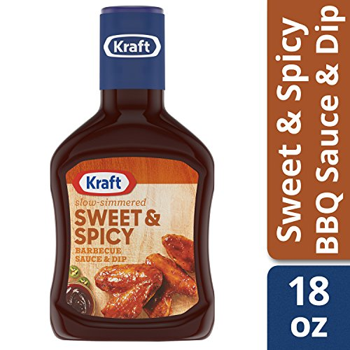 Kraft Barbecue Sauce Slow-Simmered Sweet & Spicy, 18 Ounce (Pack of 12) - Kraft Sweet Sauce