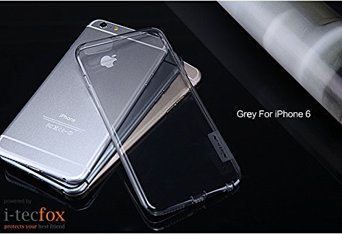 iPHONE 6 / 6S - GEL COVER [ GRAU ] - NATURE TPU CASE - CHRYSTAL CLEAR SILIKON HÜLLE, BUMPER, SCHUTZ HÜLLE