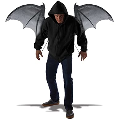 4d686516a Amazon.com: California Costumes Men's Wicked Wings, Gray/Black, One ...