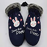 Autumn and Winter Fashion Wild Outdoor Cute Warm Cartoon One Even Refers to Stuffy Gloves
