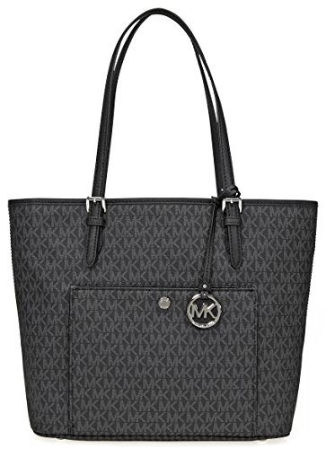Michael Kors Jet Set Signature Tote, Black by Michael Kors