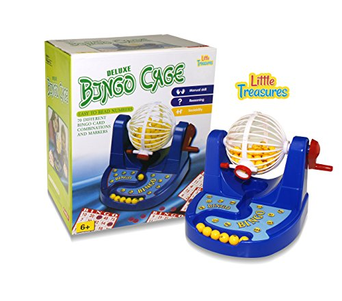 Bingo Deluxe Cage Game (LITTLE TREASURES Bingo Cage Champion Set, Royal Bingo Set For State Fair Bingo Games.)
