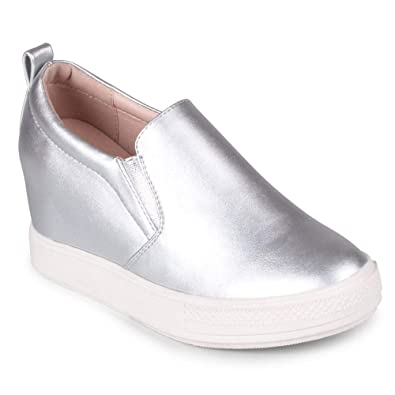 68ef76ee54b1 Wanted Womens Pocono Silver Wedge - 6.5