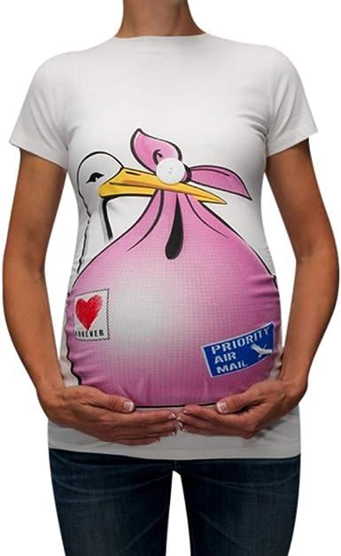 GUCIStyle Camisetas de Premamá Divertidas, Alto Cuello Blusas ...