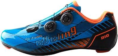 Insun Hombre Zapatillas de Ciclismo con Suela de Carbono y ...