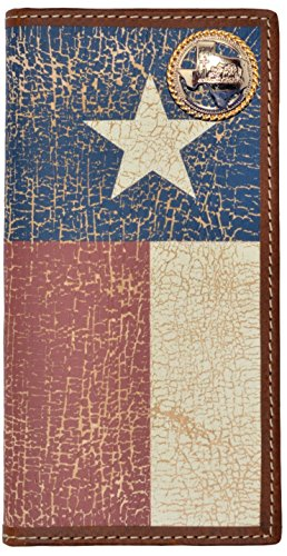 Custom Texas Cowboy Church Praying Cowboy Long Wallet with Distressed Texas Lone Star Flag by Genuine Texas Brand