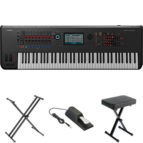 Yamaha Montage7 Synthesizer Workstation, with Stand, Pedal, and Bench