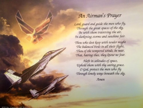Air Force Gift Airman's Prayer Dad Husband Son Veterans Day Christmas Birthday