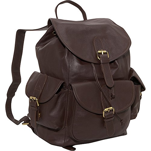 amerileather-urban-buckle-flap-backpack-dark-brown