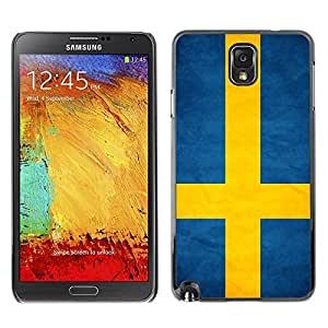 Shell-Star ( National Flag Series-Sweden ) Snap On Hard Protective Case For Samsung Galaxy Note 3 III / N9000 / N9005