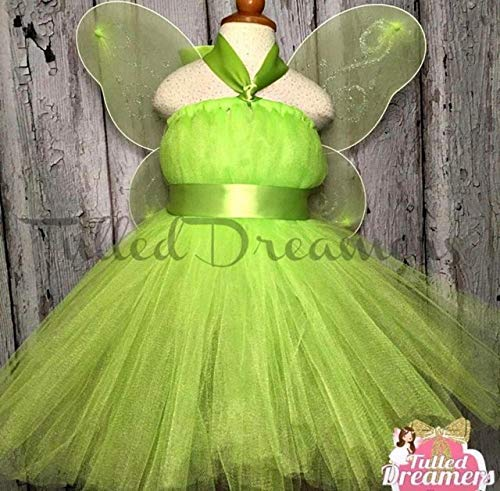 Tinkerbell Fairy Birthday Tutu With Wings