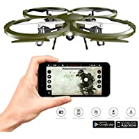 Kolibri Camera Drone Delta-Recon FPV App Quadcopter Drone with Auto Takeoff and Landing Altitude Hold Headless mode VR Capable iPhone and Android Beginner Drone