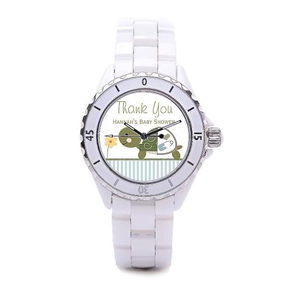 Tortuga Tortuga, relojes para niños Floral flores patrón margaritas relojes deportivos relojes de cerámica Cute