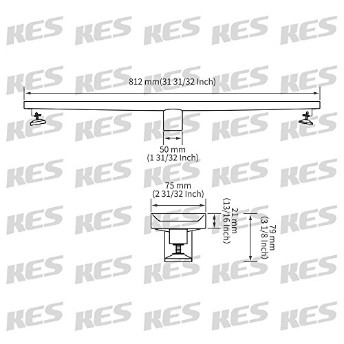 kes long linear shower floor drain with removable grate strainer rh amazon com Volkswagen Transmission Parts Volkswagen Parts