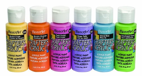 DecoArt DASK279 Crafter's Acrylics Home Décor Brights Sample Pack from DecoArt