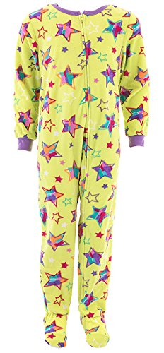 (Komar Kids Girls' Big Plush Velour Fleece Footed Blanket Sleeper Pajama, Stars)