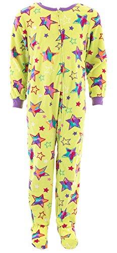 - Komar Kids Girls' Big Plush Velour Fleece Footed Blanket Sleeper Pajama, Stars, M