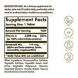 Dry Beta-Carotene 3,000 mcg Tablets - 250 Count
