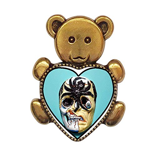 Scary Bear Mask Cartoon - GiftJewelryShop Ancient Style Gold-Plated Scary Halloween