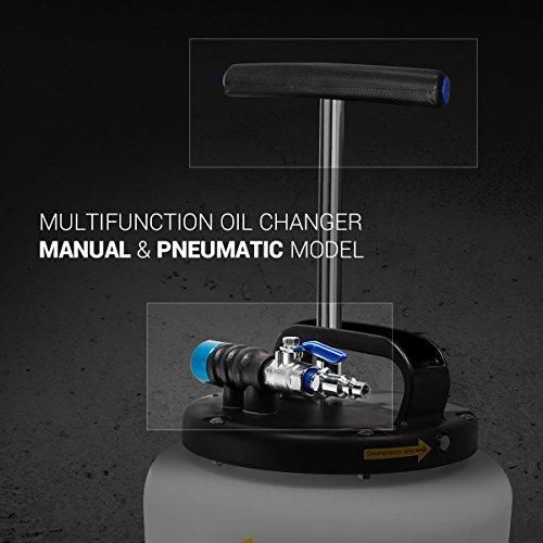 EWK Pneumatic / Manual 15 Liter Oil Changer Vacuum Fluid Extractor Pump Tank Remover by EWK (Image #2)