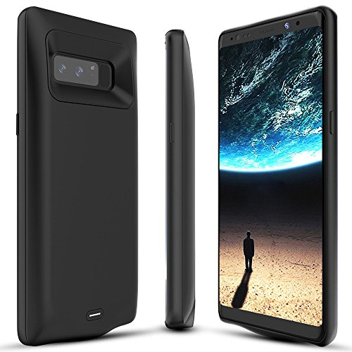 BrexLink Galaxy Note 8 Battery Case, 5500mAh Fast Charging Rechargeable External Battery Pack with LED Indicator, USB Type C Compatible, Slim and Compact Power Bank For Samsung Note8 (Black)
