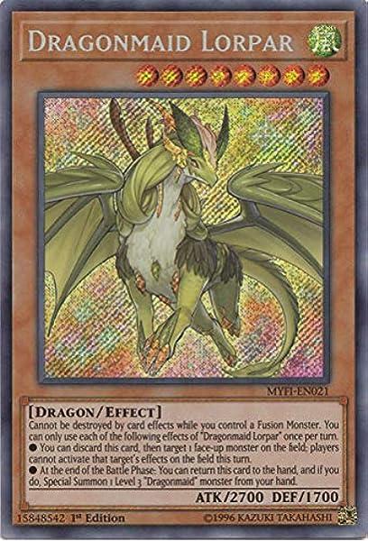 MYFI-EN017 Dragonmaid Nudyarl Secret Rare Mystic Fighters Yugioh