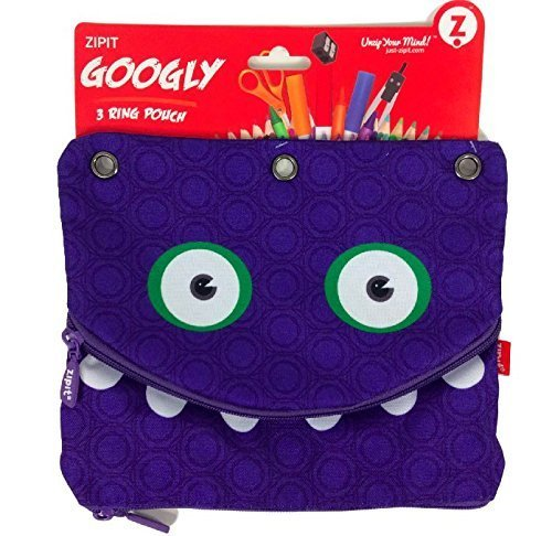 Googly 3 Ring Binder Double Pouch Pencils and - 3 Ring Binders For Kids