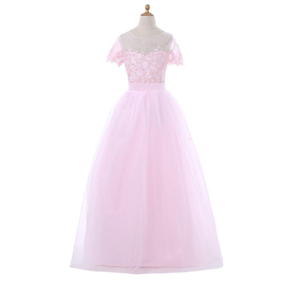 Vestidos de princesa encaje y tul Mini Dama de honor para niña de ...