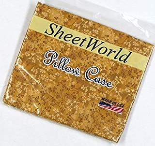 product image for SHEETWORLD.COM Gold Floral Baby Pillow Case