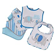 Buttons and Stitches 5 Piece Bibs, Elephant