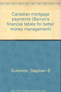Paperback Canadian Mortgage Payments Book