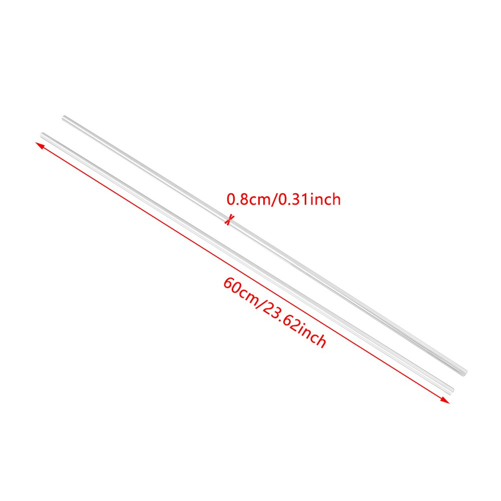 2pcs Edelstahl Zylinderschiene Linearewelle Linearer Stab Gerade Rundstange 8mm Durchmesser 600mm L/änge