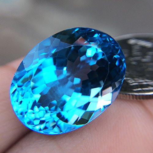 29.24ct Natural Oval Irradiation Swiss Blue Topaz Brazil #B by Lovemom (Image #1)