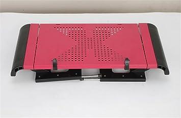 Xiaolingtong Creative Home Tablas portátil Mesa Plegable Escritorio Escritorio Cama portátil Ventilador de Mesa Escritorio para Ordenador de Escritorio de ...