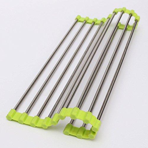 Morrenz - Vegetable Drainer Shelf Roll Up Stainless Steel Si