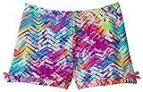 Monkeybar Buddies Worry-Free Girl's Playground Shorts, Nylon and Spandex Blend, Size 5/6, Lite Brite