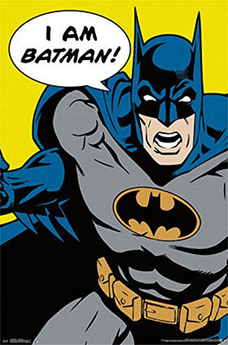 [Batman - I Am Batman Pop Art Comics Poster 22 x 34in] (1960s Batman And Robin Costumes)