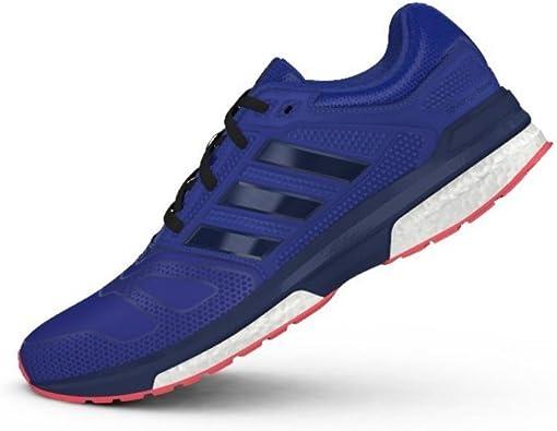 adidas Revenge Boost 2 W Techfit - Zapatillas para Mujer, Color Azul/Negro/Rosa, Talla 40: Amazon.es: Zapatos y complementos