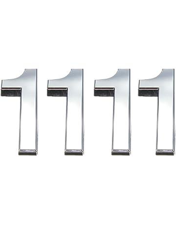 Tocone 4pcs Número Casa 0 a 9 Signo Vivienda Calle Números Placas de Dirección Número de