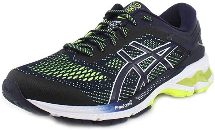 ASICS Gel-Kayano 26 Sneakers Herren Cabanblau/Gelb Bunt (Peacoat Safety Yellow)