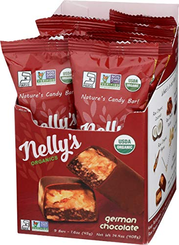 - Nelly's Organics German Chocolate Bar (Pack of 9)