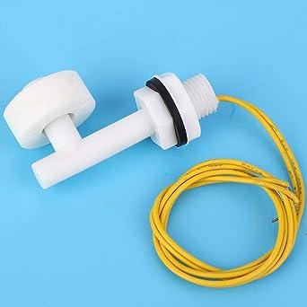 Set DC 110-220V Sensor de Nivel de Agua Sensor de Nivel de l/íquido Interruptor de Flotador de /ángulo Recto para Tanque de Peces BIlinli 2pcs
