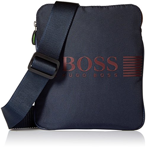 BOSS Hugo Boss Men's Pixel Nylon Zip Reporter Bag, Navy by HUGO BOSS