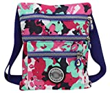 Aibearty Boho Nylon Crossbody Bag Tribal Little Purse Cell Phone Pouch, Colorful Camouflage